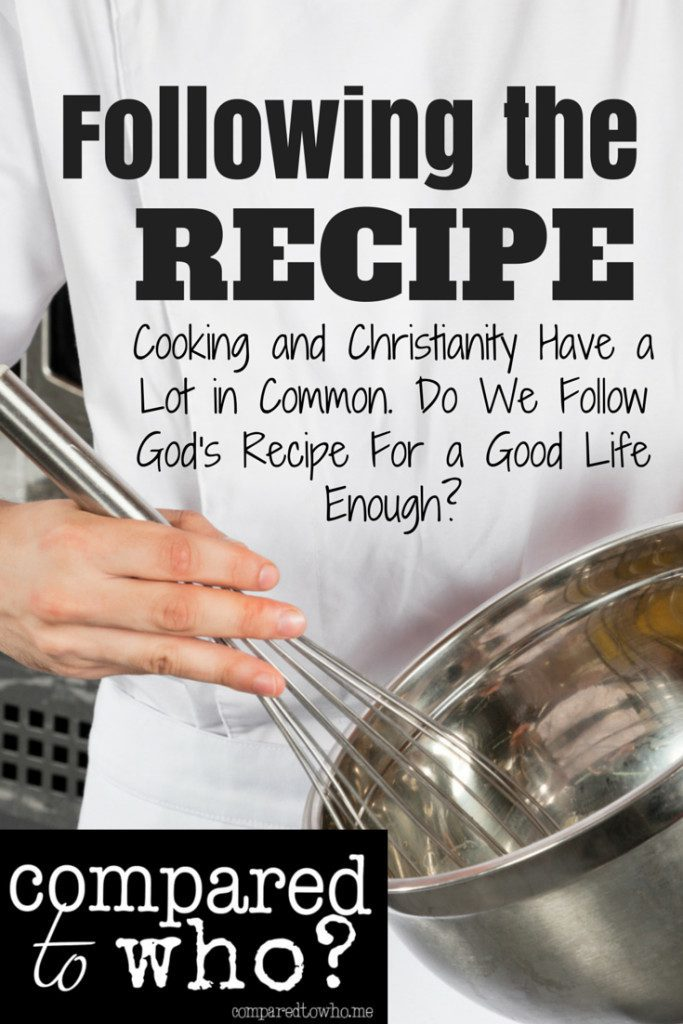 Following the Recipe Headline and Picture of Chef
