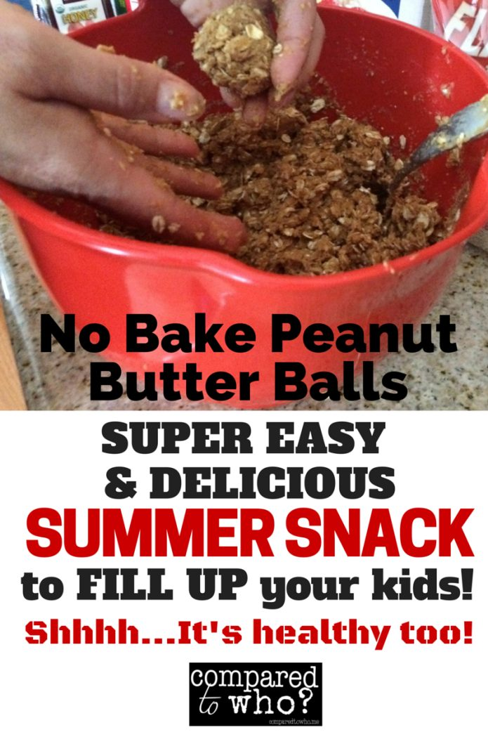 easy peanut butter energy ball healthy snack for kids