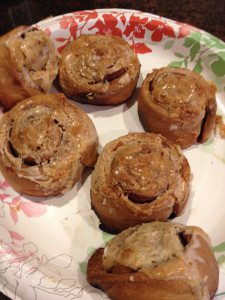 I made these beautiful cinnamon rolls a few Christmas' ago. Lovely, eh? Pinterest fail.