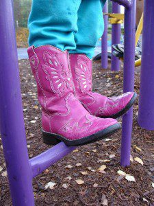 pink girl cowboy boots