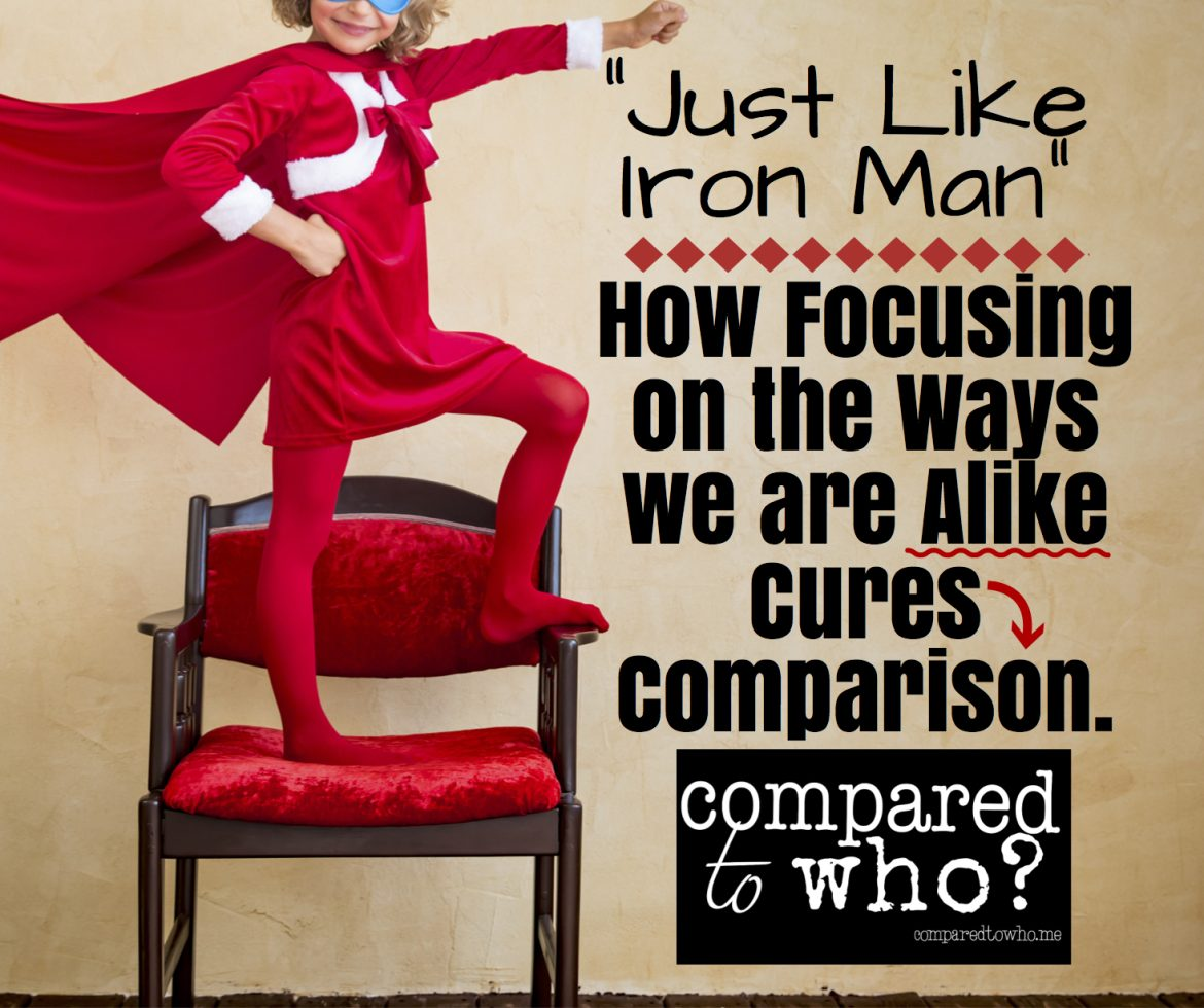 Can focusing on how we are alike cure comparison?