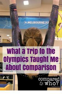trip to Olympics taught me about comparison