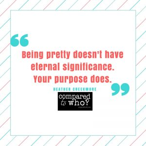 being pretty doesn't have eternal significance