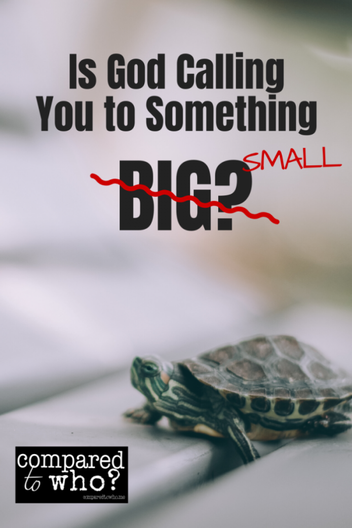 Is God Calling you to do something small?