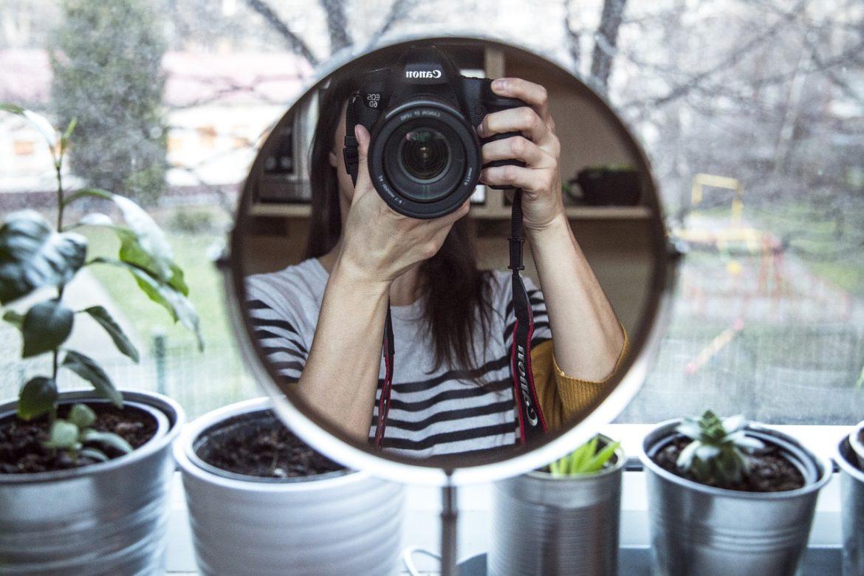mirror, camera, canon