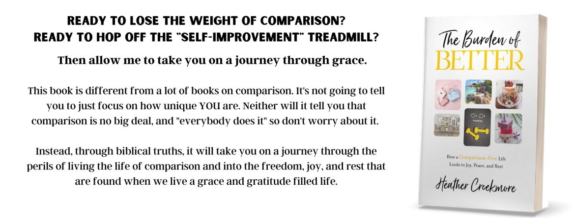 burden of better book on comparison and how to lose the weight of comparison