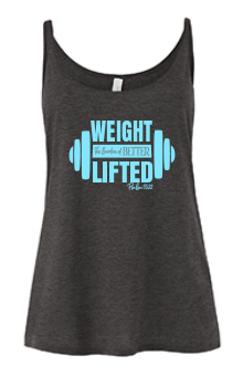 cute workout tank that says weight lifted