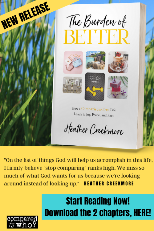 Burden of better book sample chapters of great book on comparison for christian women