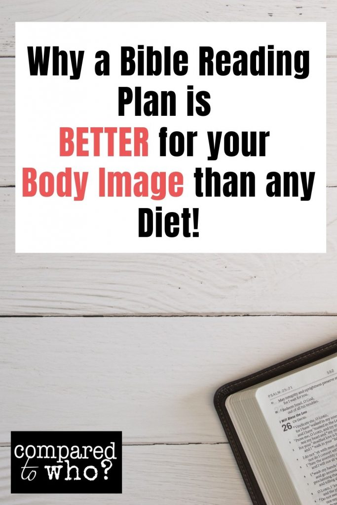 Bible reading plan better than a diet for body image