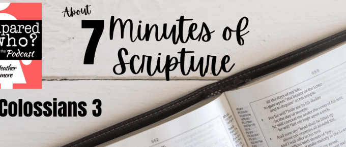 7 minutes of scripture colossians 3