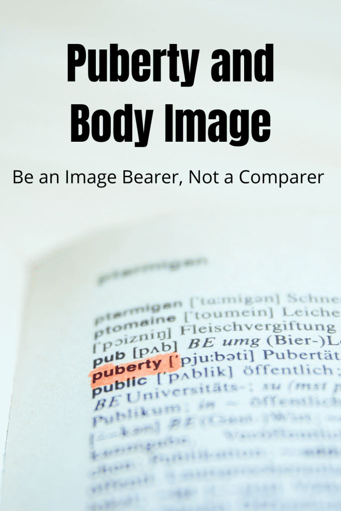 puberty and body image: be an image bearer, not a comparer